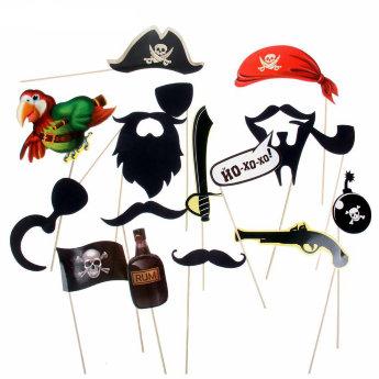 Набор для фотосессии Пиратская вечеринка 16 предм.