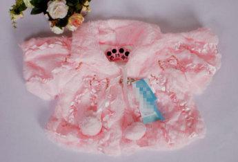 Нарядное плюшевое болеро для девочки, цвет розовый