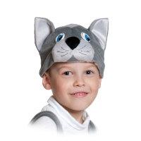 Шапочка Котик серый 4078