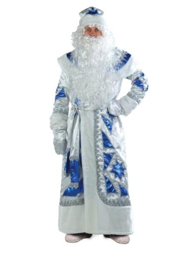 Костюм Дед Мороз серебряно-синий Б-161-1