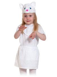 Костюм Кошечка белая лайт-манишка, 01-3079