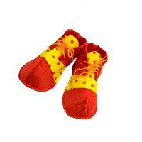Ботинки клоуна детские 6154, горох
