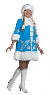 Костюм Снегурочка вышивка Б-1113