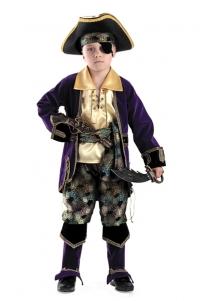 Костюм Капитан Пиратов лиловый К-924