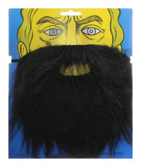 Карнавальная борода черная 327213