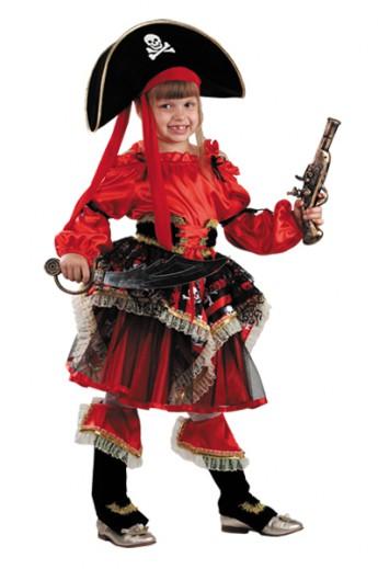 Костюм Пиратка красная Б-455