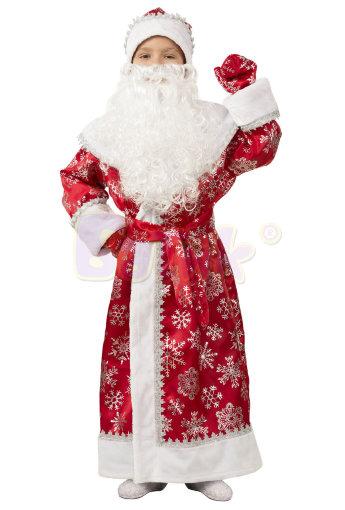 Костюм детский Дед Мороз сатин 1206
