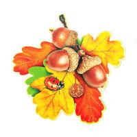 Украшения на 1 сентября - листья дуба и желуди на скотче А-113-465
