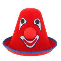 Шапка клоуна из фетра красная